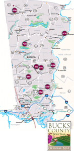 Bucks County Wine Tour map